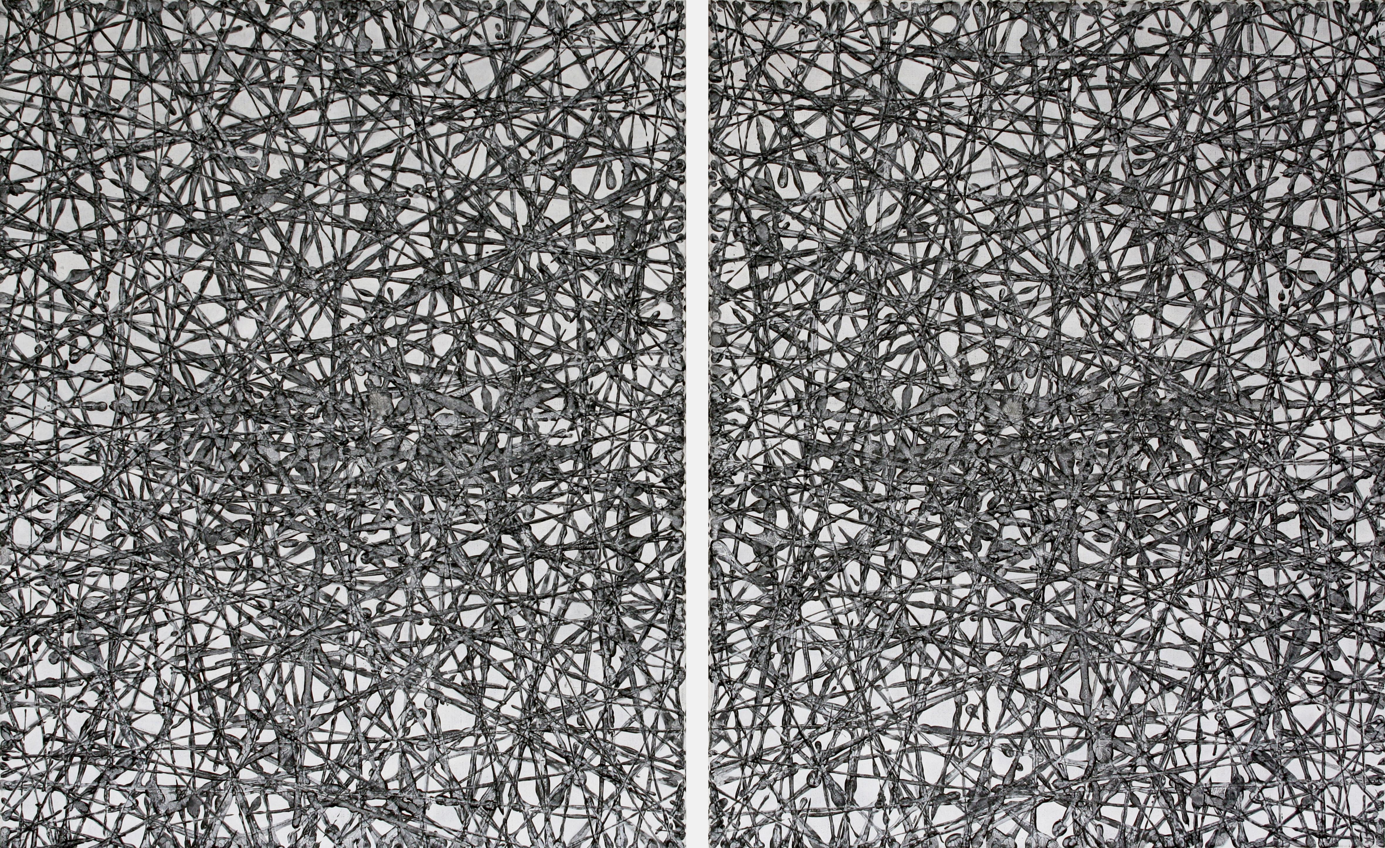 Frits Klaver-Tweeluik Strooilijnen IX 2015, 160x100cm copy