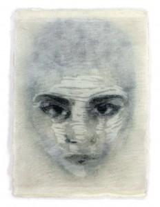 Bea vd Heijden, Narcissus 1, 15 x 10,5 cm, gem. techniek, 2014